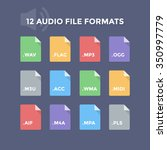 audio file formats. music file... | Shutterstock .eps vector #350997779