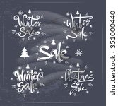 set of signs   christmas sale... | Shutterstock .eps vector #351000440