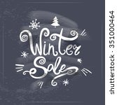 winter sale lettering on... | Shutterstock .eps vector #351000464