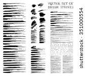vector ink brush flourishes....   Shutterstock .eps vector #351000554