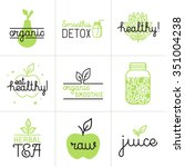vector set of logo design... | Shutterstock .eps vector #351004238