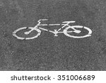 bycycle signs | Shutterstock . vector #351006689