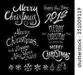 silver textured handwritten... | Shutterstock . vector #351009119