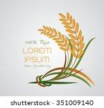 rice logo  agriculture symbols... | Shutterstock .eps vector #351009140