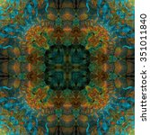 kaleidoscopic wallpaper tiles  | Shutterstock . vector #351011840