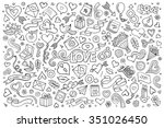 sketchy vector hand drawn... | Shutterstock .eps vector #351026450