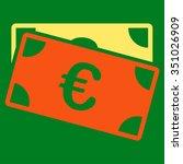 euro banknotes vector icon.... | Shutterstock .eps vector #351026909