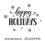 happy holidays postcard... | Shutterstock .eps vector #351029540