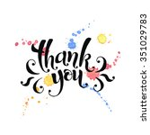 thank you lettering with... | Shutterstock .eps vector #351029783