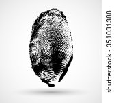 fingerprint isolated on white | Shutterstock .eps vector #351031388