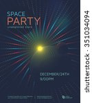 space party poster design... | Shutterstock .eps vector #351034094