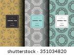 vector set of design elements... | Shutterstock .eps vector #351034820