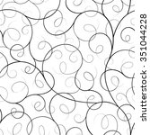 seamless abstract liana twisted ... | Shutterstock .eps vector #351044228