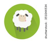 illustration of a cute sheep | Shutterstock . vector #351044534