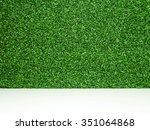 green grass background on white ... | Shutterstock . vector #351064868