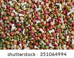 pet food as background and... | Shutterstock . vector #351064994