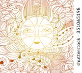 ethnic pattern   Shutterstock .eps vector #351065198