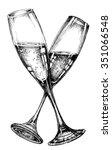 glass of champagne   Shutterstock .eps vector #351066548