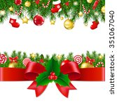 xmas borders with gradient mesh ... | Shutterstock .eps vector #351067040