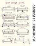vector visual guide of sofa... | Shutterstock .eps vector #351068090