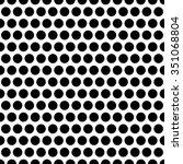 monochrome circles seamless... | Shutterstock .eps vector #351068804