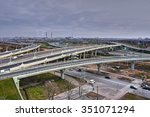 St. Petersburg, Russia - November 2, 2009: top view of the transport interchange ring road. - stock photo