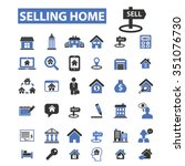 real estate  agent  agency ... | Shutterstock .eps vector #351076730