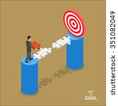 way to the goal isometric flat... | Shutterstock .eps vector #351082049