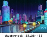 night city  vector illustration ... | Shutterstock .eps vector #351084458
