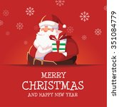 santa claus merry christmas and ... | Shutterstock .eps vector #351084779