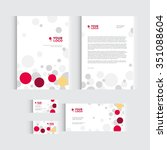 brochure  flyer or report for... | Shutterstock .eps vector #351088604