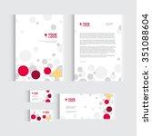 brochure  flyer or report for... | Shutterstock .eps vector #351088604