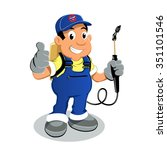 pest control exterminator | Shutterstock .eps vector #351101546