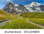 famous electric railroad near... | Shutterstock . vector #351104804