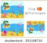 underwater world  ocean floor... | Shutterstock . vector #351108710