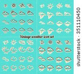 vector vintage hand drawn... | Shutterstock .eps vector #351110450