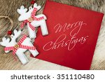 merry christmas written text on ... | Shutterstock . vector #351110480