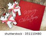 merry christmas written text on ... | Shutterstock . vector #351110480