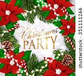 merry christmas and happy new... | Shutterstock .eps vector #351111266