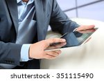 businessman working with... | Shutterstock . vector #351115490