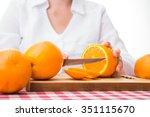 fresh orange fruits on... | Shutterstock . vector #351115670