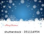 christmas background | Shutterstock . vector #351116954