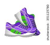 violet sport sneakers  modern...