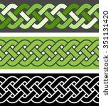 3 braid seamless border... | Shutterstock .eps vector #351131420