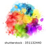 Multicolored Watercolor Splash...