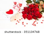 romantic still life with... | Shutterstock . vector #351134768