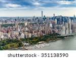 aerial view of manhattan... | Shutterstock . vector #351138590