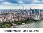 aerial view of manhattan... | Shutterstock . vector #351138590
