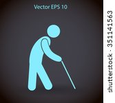 old man vector icon | Shutterstock .eps vector #351141563