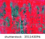red concrete grunge green wall... | Shutterstock . vector #351143096